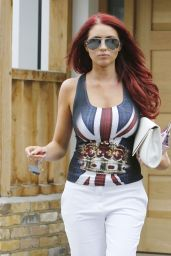 Amy Childs Street Style - October 2014