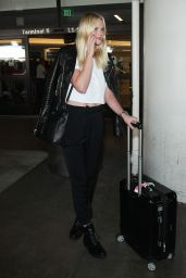 Anne Vyalitsyna Arriving at LAX Airport, Oct. 2014