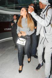 Ariana Grande at Charles de Gaulle Airport in Paris - October 2014