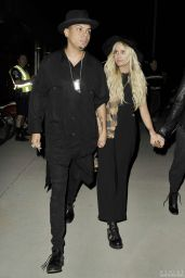 Ashlee Simpson Arriving at a Sam Smith Concert in Los Angeles
