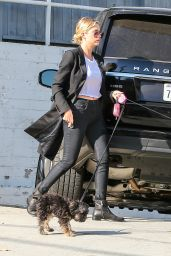 Ashley Benson Spotted Dog Walking in Hollywood, October 2014