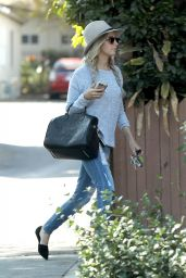 Ashley Tisdale in Ripped Jeans - Out in Studio City, October 2014