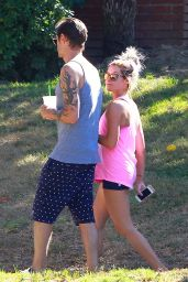 Ashley Tisdale in Short Shorts - Out in Studio City, Oct. 2014