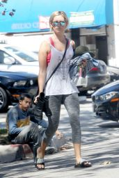 Ashley Tisdale in Tights - Leaving Pilates Class in Los Angeles, Sept. 2014