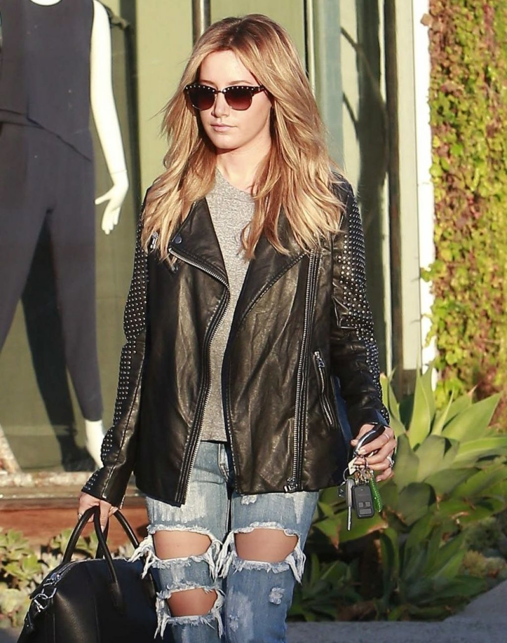 Ashley Tisdale - Leaving Andy LeCompte Salon in West Hollywood - October 2014