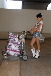 Bai Ling at LAX Airport - October 2014
