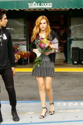 Bella Thorne in Mini Dress - Out in New York City - October 2014