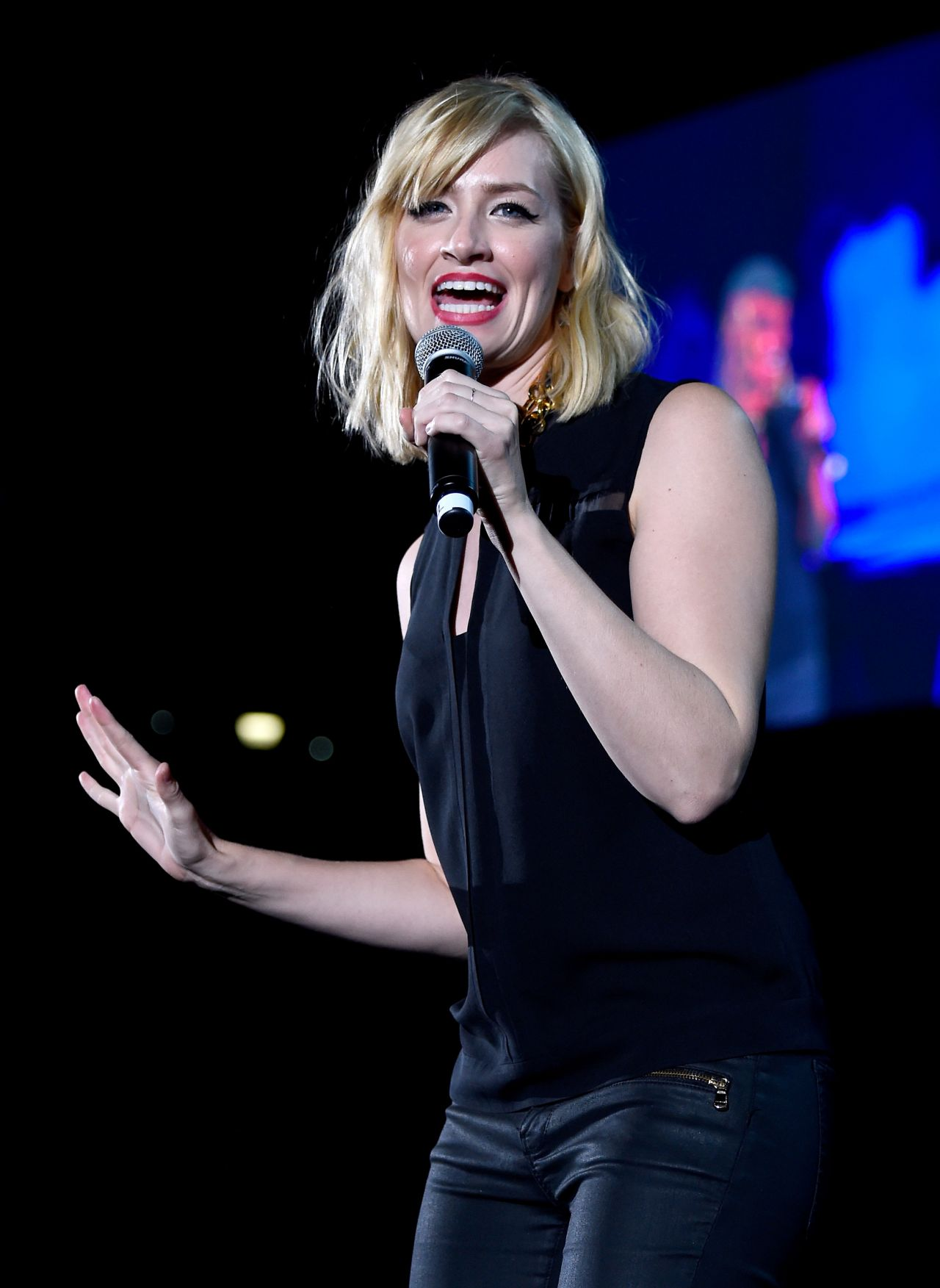 Beth Behrs Performs at We Can Survive 2014 in Los Angeles