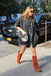Blake Lively in Knee High Boots - Out in New York City - October 2014