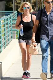 Britney Spears in Shorts - Leaving the Gym in Westlake Village - October 2014