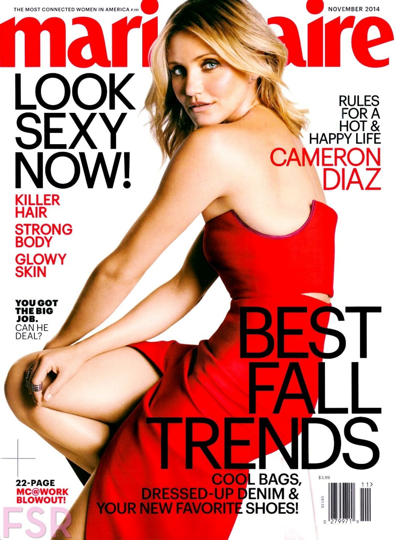 Cameron Diaz - Marie Claire Magazine (USA) - November 2014 Issue