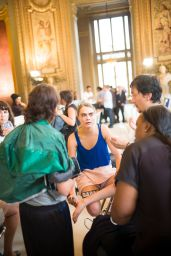 Cara Delevingne - Paris Fashion Week - Stella McCartney Show Behind the Scenes