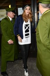 Cara Delevingne Street Style - DKNY Promotion Outside Harrods in London - October 2014