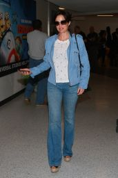 Carla Gugino at LAX Airport in Los Angeles - October 2014