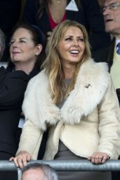 Carol Vorderman - Qipco British Champions Day at Ascot Racecourse - Oct. 2014