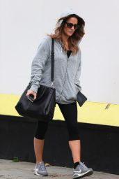 Caroline Flack in Leggings - Out in London, Oct. 2014
