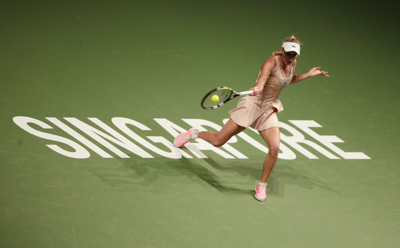 Caroline Wozniacki – 2014 WTA Finals in Singapore (vs Maria Sharapova)