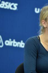 Caroline Wozniacki - Picks Up Her New York City Marathon Official Race Bib - October 2014