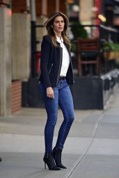 Cindy Crawford in Tight Jeans - Leaving Her Hotel in New York City - Oct. 2014