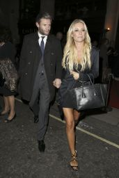 Denise Van Outen Night Out Style - Party Hosted by Jonathan Shalit to Celebrate his OBE
