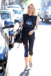 Diane Kruger in Tights - Leaving a Gym in Los Angeles - September 2014