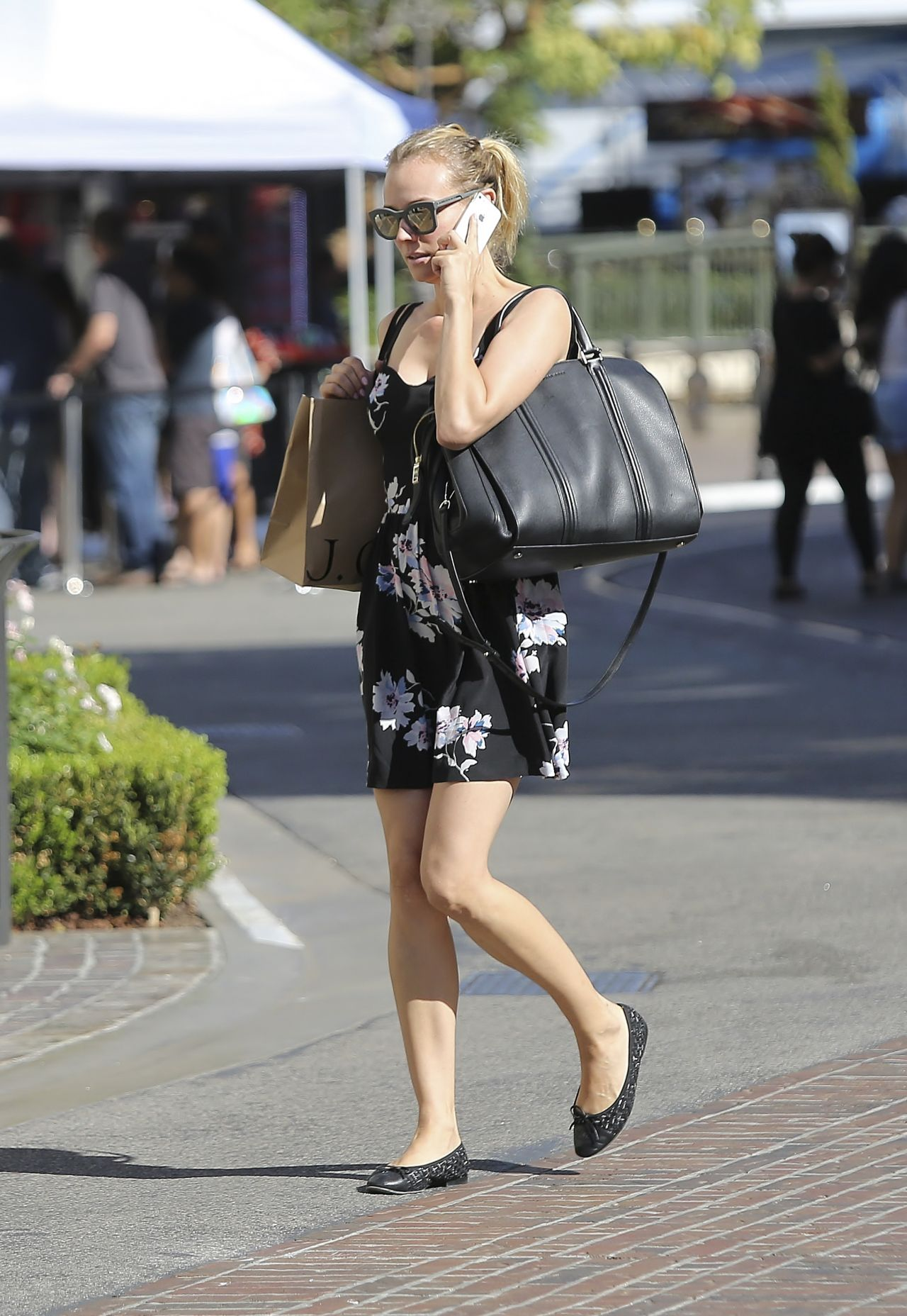 Diane Kruger Leggy at The Grove in West Hollywood - September 2014