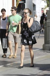 Diane Kruger Leggy at The Grove in West Hollywood - September 2014