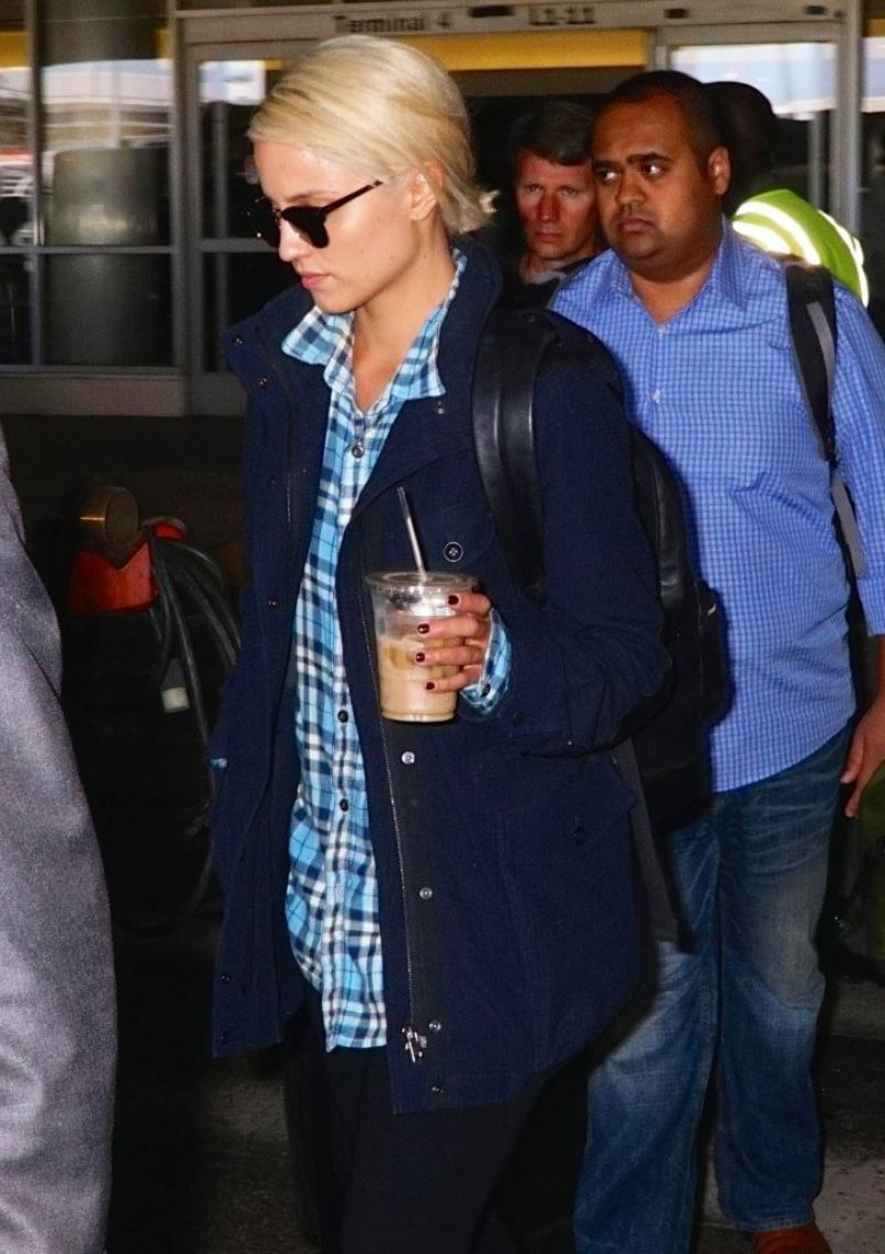 Dianna Agron at LAX Airport, Sept. 2014