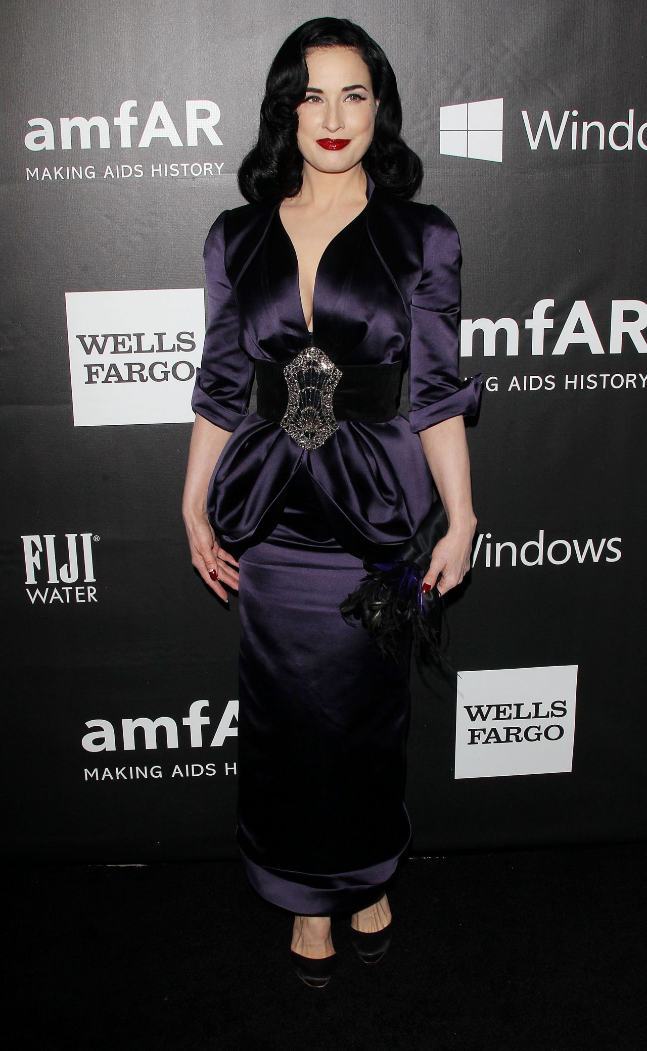 Dita Von Teese - 2014 amfAR LA Inspiration Gala in Hollywood
