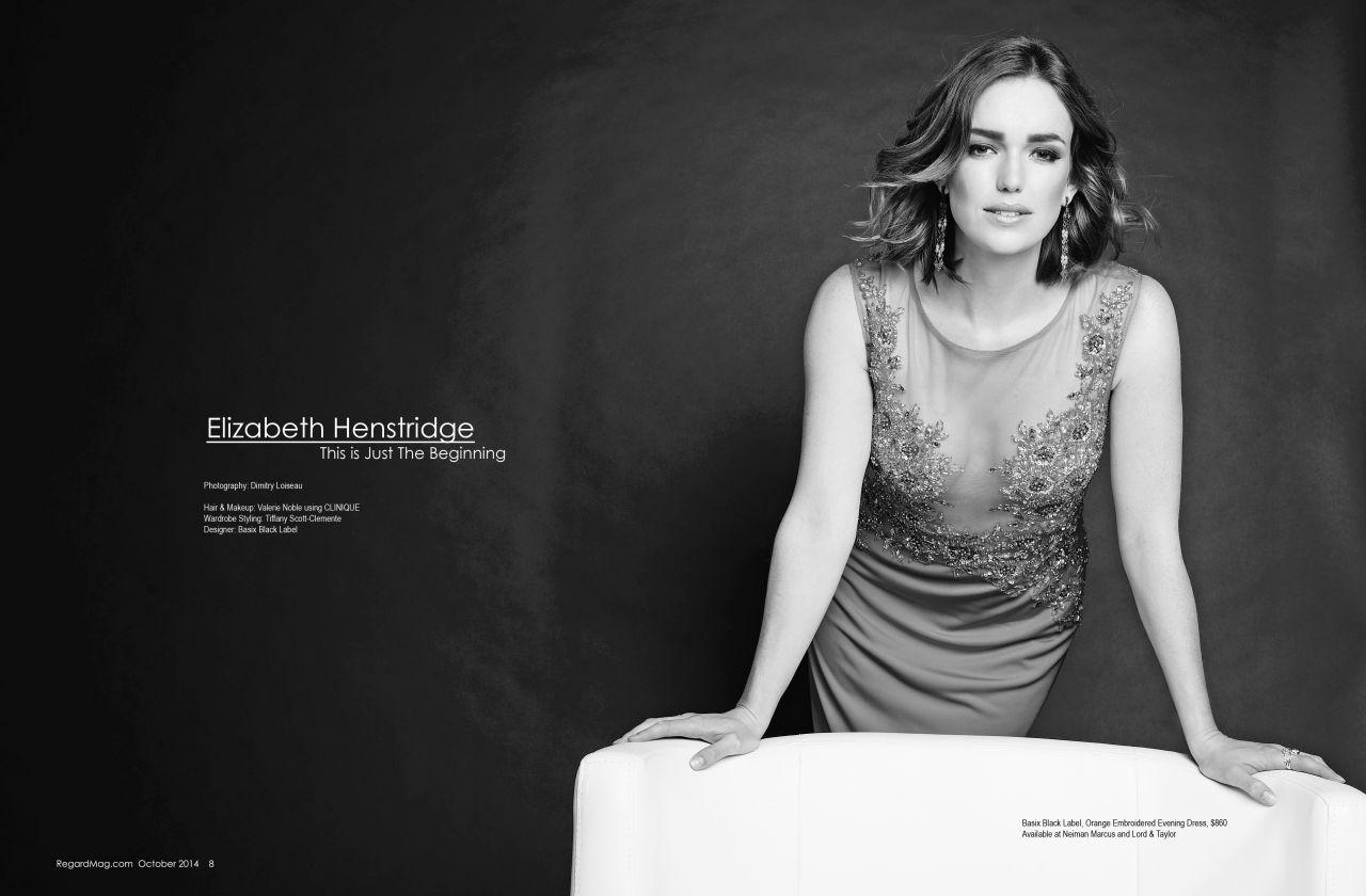 Elizabeth Henstridge - Regard Magazine October 2014 Issue