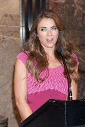 Elizabeth Hurley - Breast Cancer Awareness Month Event - Empire State Building in NYC