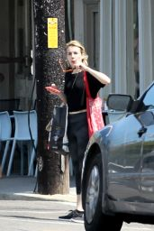 Emma Roberts In Tights - Out Shopping in New Orleans - Sept. 2014