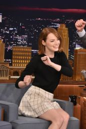 Emma Stone Appeared on The Tonight Show With Jimmy Fallon in New york City - October 2014