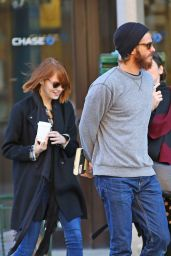 Emma Stone Street Style - Out in New York City - October 2014