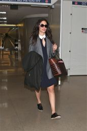 Emmy Rossum at LAX Airport in Los Angeles - October 2014