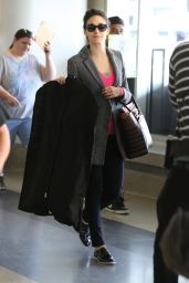 Emmy Rossum at LAX Airport - October 2014