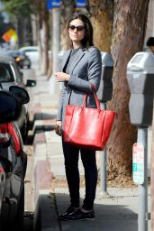 Emmy Rossum Street Style - Out in Santa Monica - October 2014