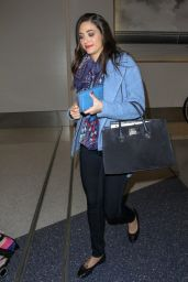 Emmy Rossum Style - at LAX Airport in Los Angeles - October 2014