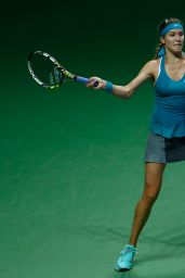 Eugenie Bouchard - 2014 WTA Finals in Singapore (vs Simona Halep)