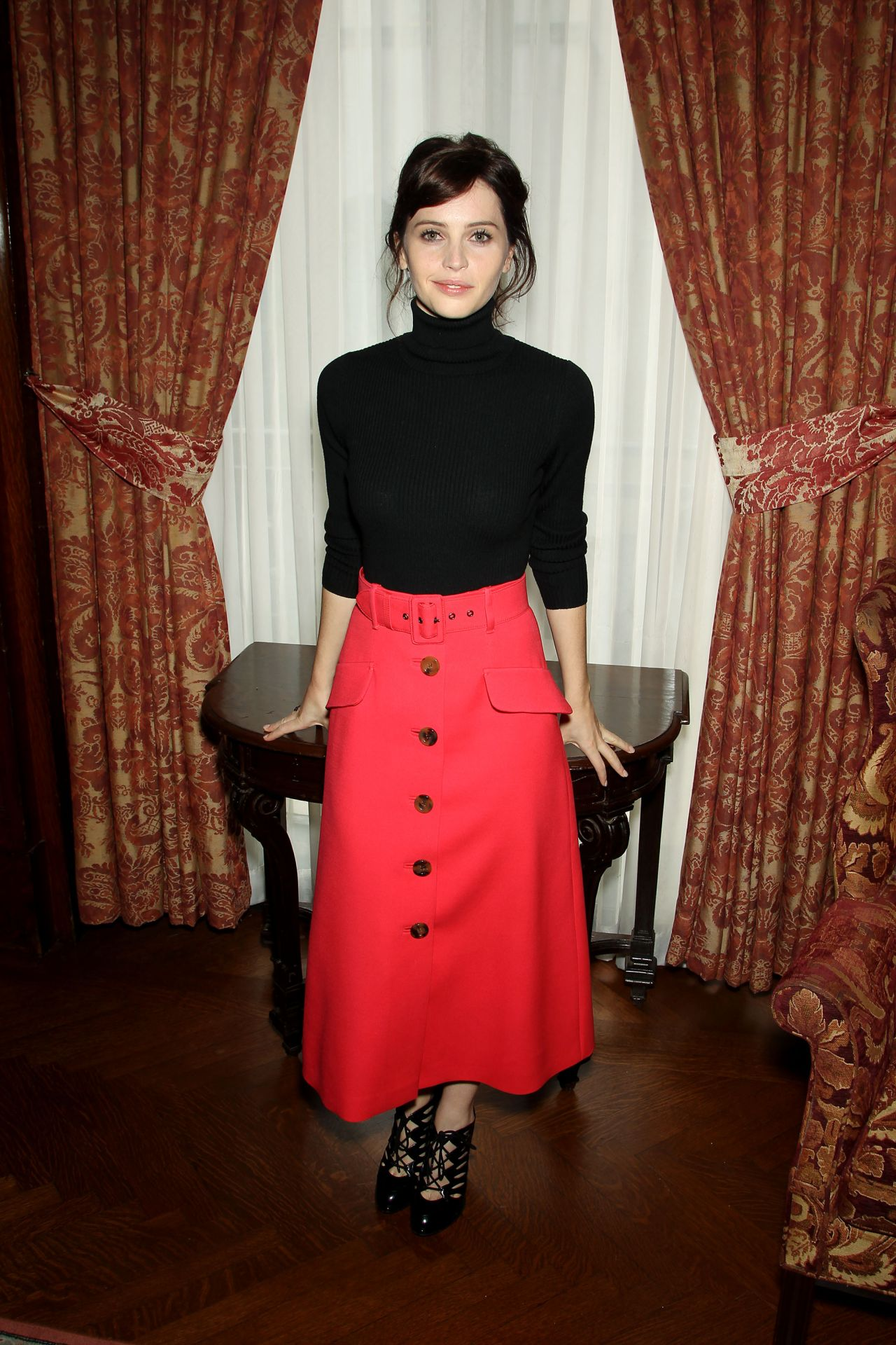 Felicity Jones Style The Theory Of Everything Luncheon