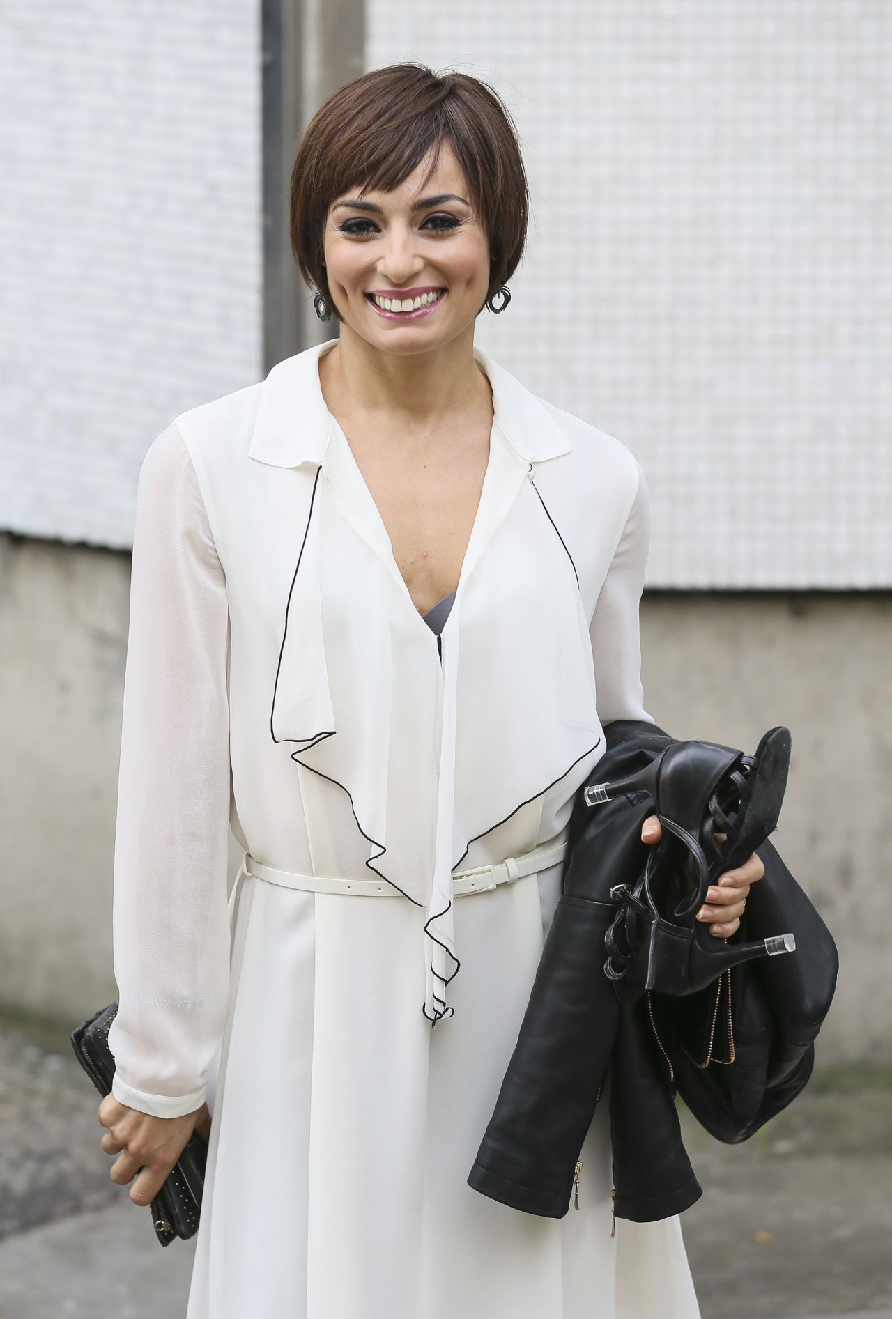 Flavia Cacace - Leaving the London Studios - October 2014