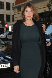 Gemma Arterton at BBC Radio 1 in London, October 2014