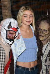 Gigi Hadid at Knotts Scary Farm Celebrity VIP Opening at Knott's Berry Farm