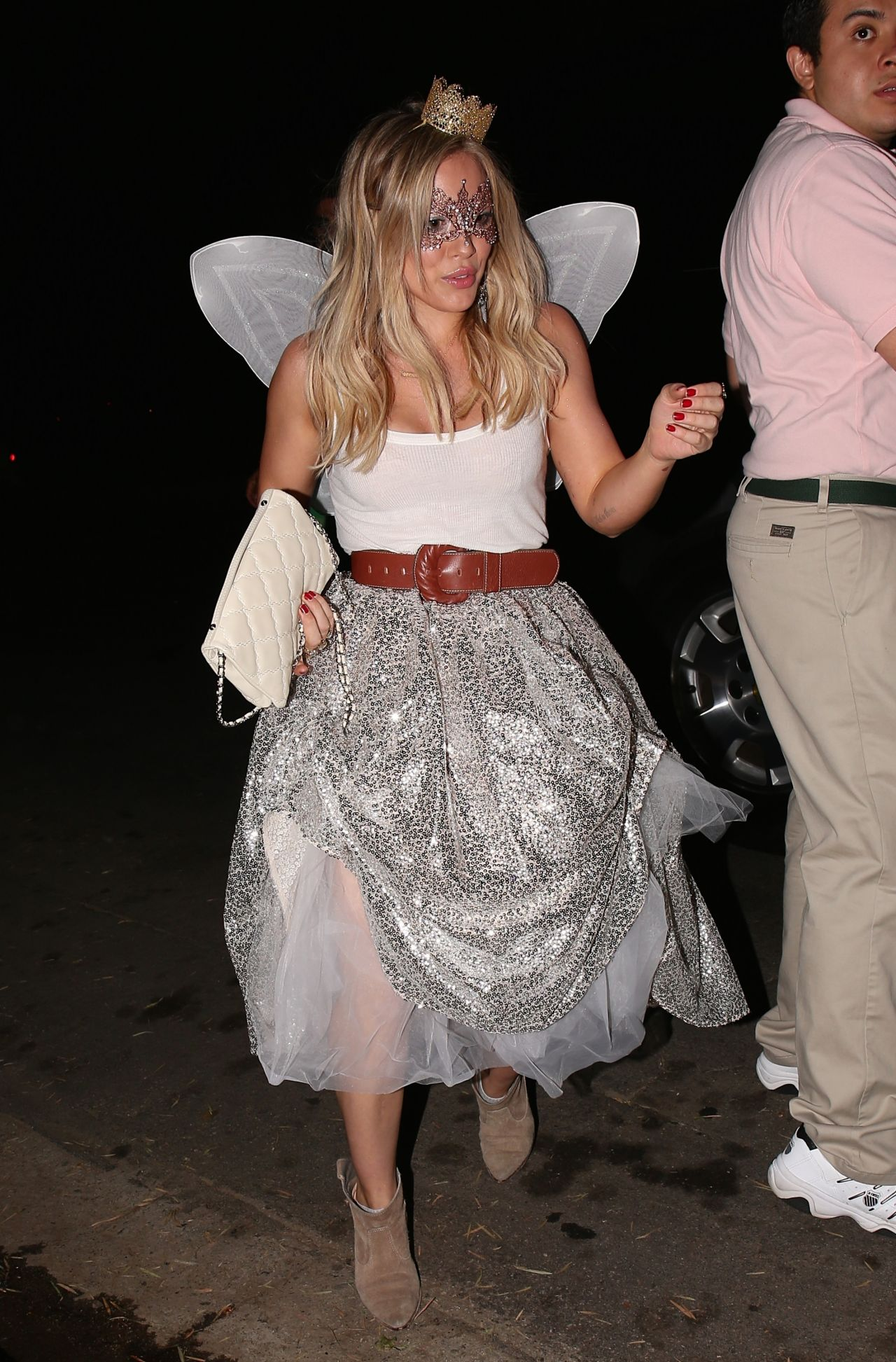 Hilary Duff at Halloween Party in Beverly Hills - October 2014