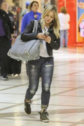 Hilary Duff at LAX Airport - October 2014
