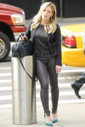 Hilary Duff in Leater Pants -