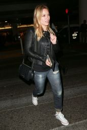 Hilary Duff Street Style - at LAX Airport, October 2014