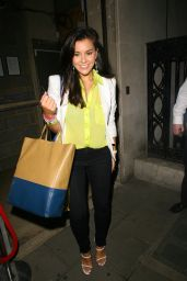 Imogen Thomas Night Out Style - Leaving Cafe Kaizen in London - Oct. 2014