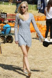 Jaime King Leggy at Mr. Bones Pumpkin Patch - October 2014