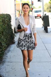 Jamie Chung Cool Street Look - Arriving for a Photoshoot in Long Island, Oct. 2014